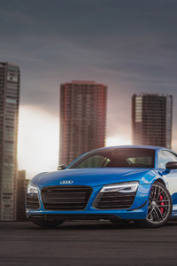 1280x2120 Blue Audi R8 4k