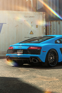 Blue Audi R8 8k