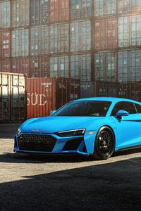540x960 Blue Audi R8 Jenn 8k
