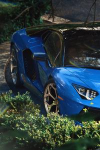 Blue Aventador 4k 2019