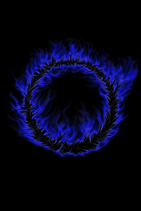 1080x1920 Blue Burning Flame Abstract 4k