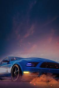 480x800 Blue Camaro 5k