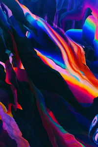 Blue Color Formation Abstract 4k