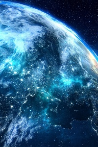 240x320 Blue Digital Planet