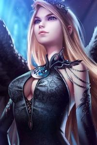 640x1136 Blue Eye Angel Art