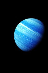 1080x2160 Blue Gas Planet 5k
