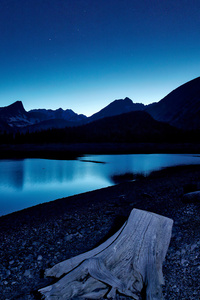 240x400 Blue Hour Kananaskis Lake Stars 8k