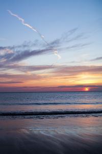 Blue Hour Sunset At Beach 5k