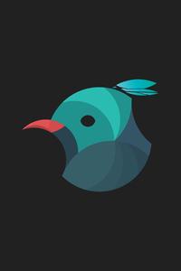 320x480 Blue Jays Logo Minimalism 4k