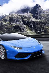 Blue Lamborghini Huracan 5k