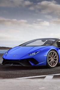 Blue Lamborghini Roadster 4k