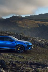 1440x2960 Blue Lamborghini Urus SUV