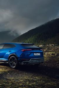 360x640 Blue Lamborghini Urus SUV New