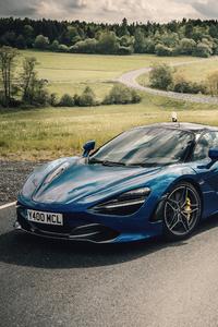 640x960 Blue Mclaren 4k