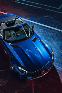 Blue Mercedes Benz Amg GT 2019
