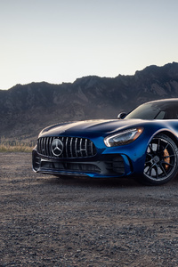 Blue Mercedes Benz Amg GT 4k