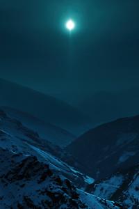 1080x2280 Blue Moon Morning 5k