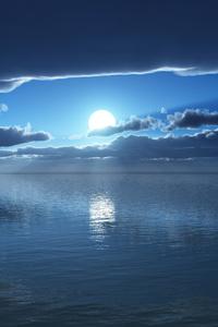 750x1334 Blue Ocean Silent 4k