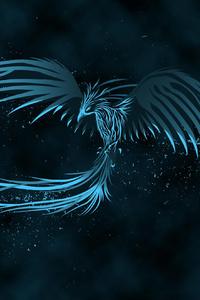 Blue Phoenix Watermark 4k