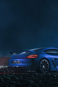 480x854 Blue Porsche Fog Play