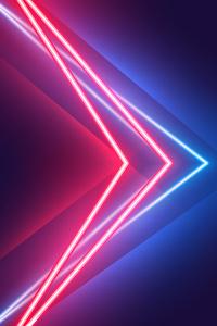 720x1280 Blue Red Neon Vivid Colors 5k