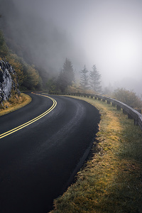 1080x2160 Blue Ridge Parkway Road Of Mountains 4k