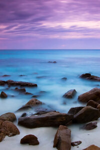 Blue Sea and Purple Sky