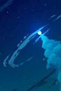 Blue Sky Clouds Digital Art