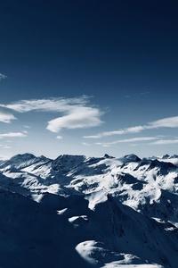Blue Sky High Angle Mountains Clear Sky