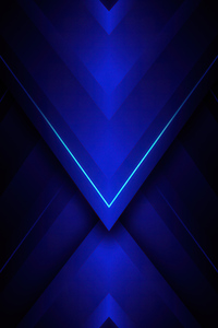 800x1280 Blue Triangle Abstract 4k