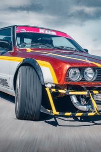 1125x2436 BMW 3 Series E30 Drifting 5k
