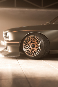 1280x2120 Bmw E30 Fat Wheels 4k