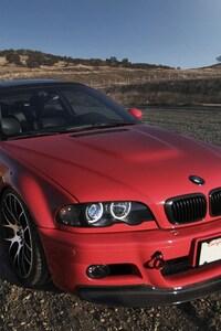 640x1136 Bmw E46 Red