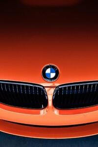 480x854 Bmw M3 Front Orange