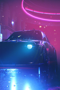 640x1136 Bmw M3 Neon Lights Nfs Heat