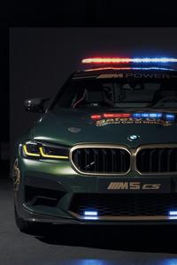 1125x2436 BMW M5 CS MotoGP Safety Car 2021