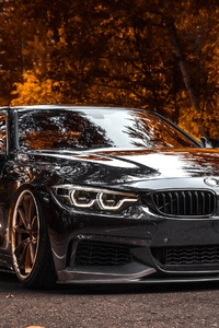 320x480 BMW Tuning 4 Series Black Metallic 4k