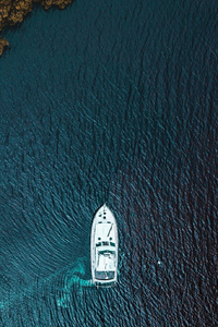 Boat Aerial View From Sky
