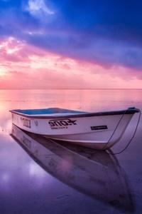 Boat Beach Seashore Reflection Sunset