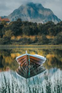 480x854 Boat Nature Reflection 5k