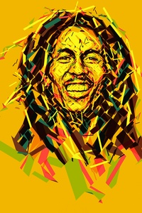480x800 Bob Marley Abstract Artwork 8k