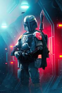 640x960 BobaFett Star Wars 4k