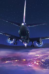 1080x2280 Boeing 737 Next Generation Planes Minimalism 4k