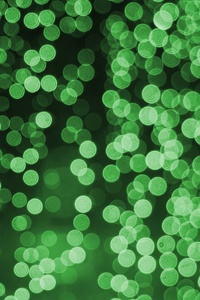 Bokeh Effect Green Lights Celebrations