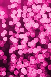 Bokeh Effect Pink Lights Celebrations