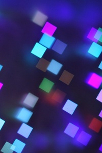320x480 Bokeh Lights Pattern Texture Square Blurred Colorful