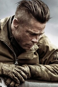 640x960 Brad Pitt In Fury Movie