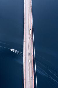 240x320 Bridge Under Blue Sky 5k