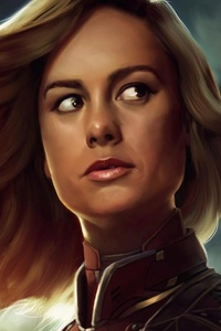 Brie Larson Captain Marvel Artwork