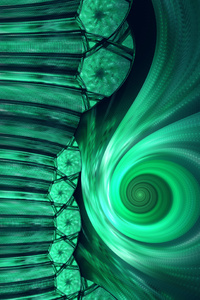 Bright Flame Fractal Digital Art